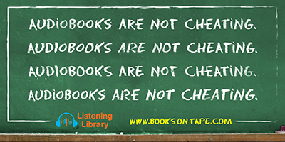 Is listening to an audiobook cheating?