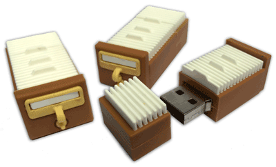 Card Catalog USB Drives
