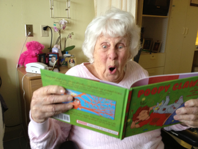 Gene's Grandma Reading Poopy Claws