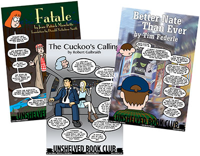 sample Unshelved Book Club strips