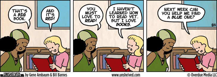 Unshelved comic strip for 10/8/2012