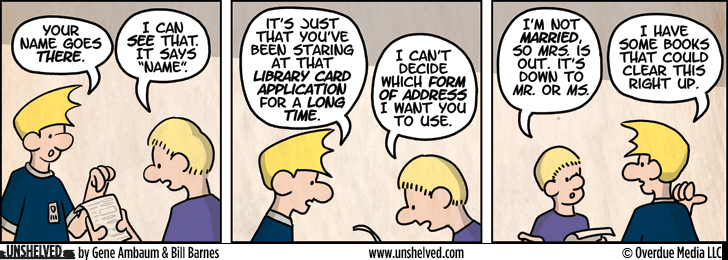 Unshelved comic strip for 10/11/2012