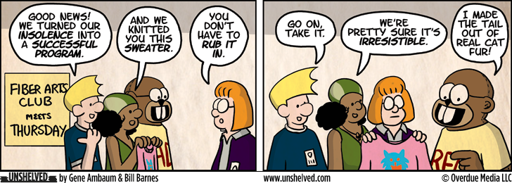 Unshelved comic strip for 10/18/2012