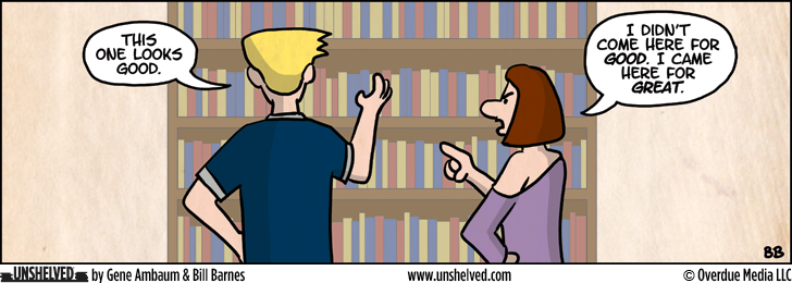 Unshelved comic strip for 10/29/2012