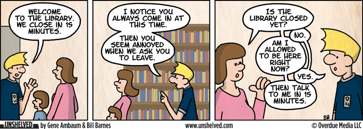 Unshelved comic strip for 11/5/2012