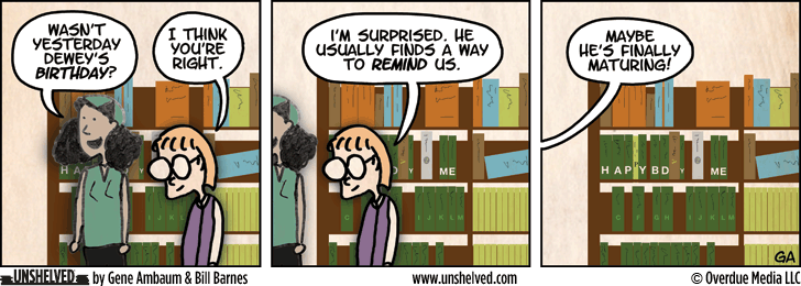 Unshelved comic strip for 1/14/2013