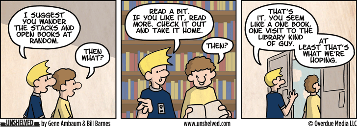 Unshelved strip for 1/24/2013