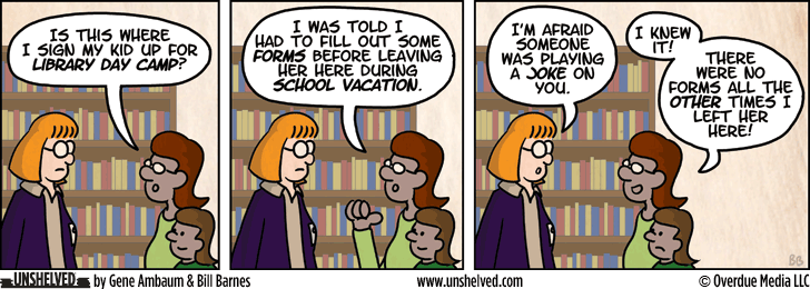 Unshelved comic strip for 1/28/2013
