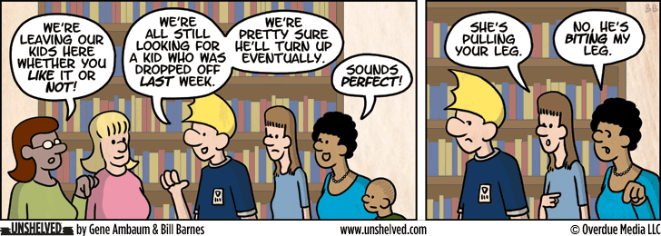 Unshelved comic strip for 1/30/2013