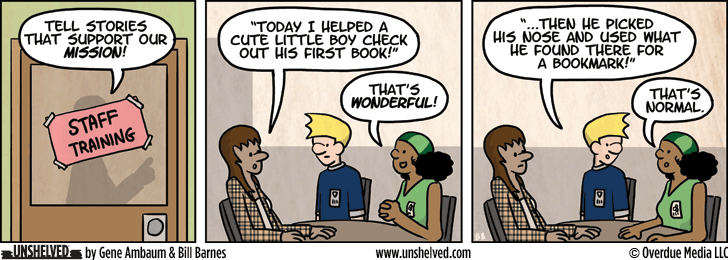 Unshelved strip for 2/5/2013
