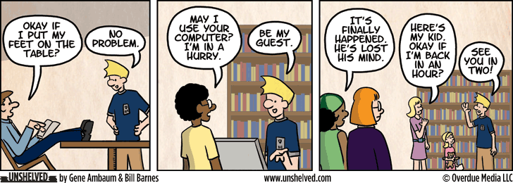 Unshelved comic strip for 2/26/2013
