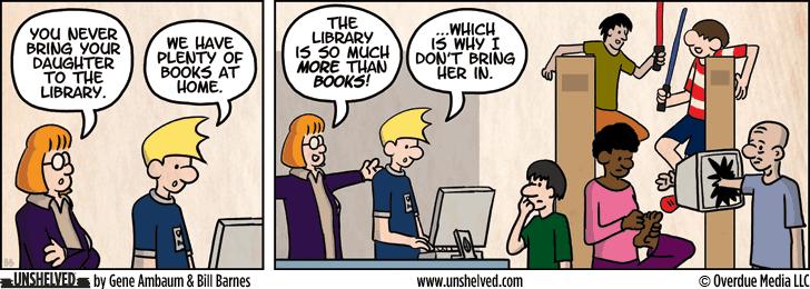 Unshelved comic strip for 3/11/2013