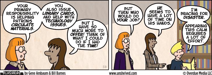 Unshelved comic strip for 4/3/2013