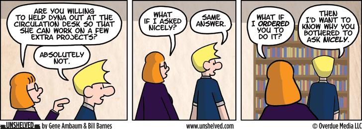 Unshelved comic strip for 4/4/2013