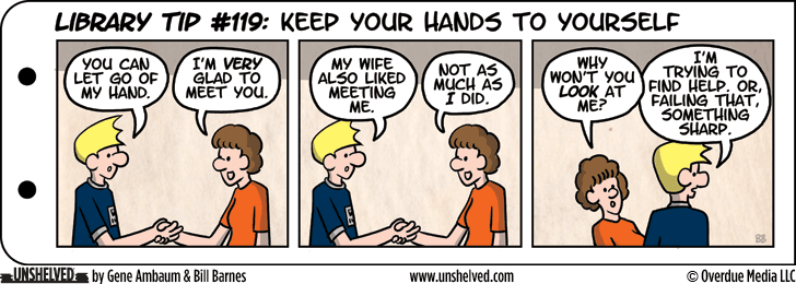 Unshelved comic strip for 4/15/2013
