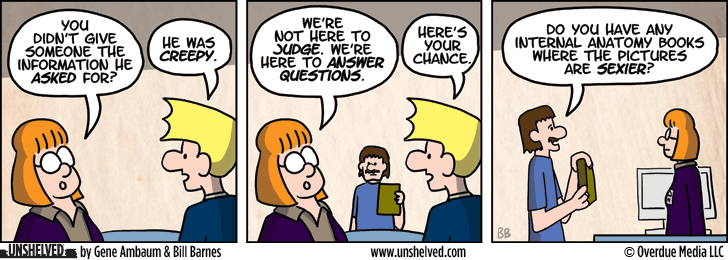 Unshelved comic strip for 4/23/2013