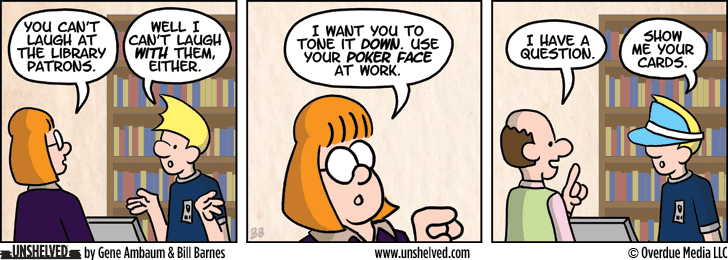 Unshelved comic strip for 5/8/2013
