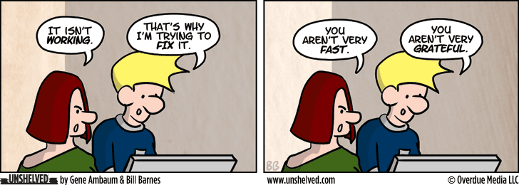 Unshelved comic strip for 5/13/2013
