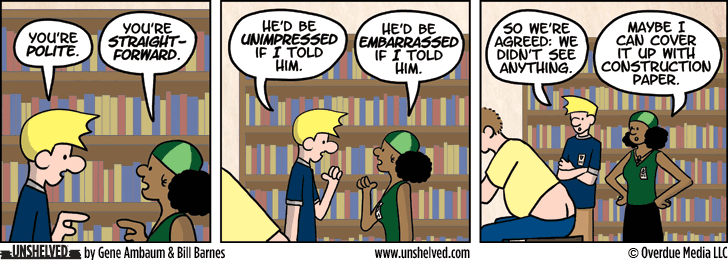 Unshelved comic strip for 5/15/2013