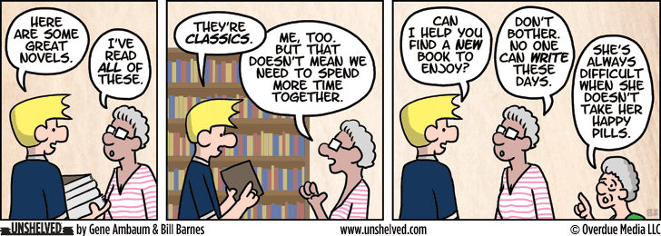 Unshelved comic strip for 6/6/2013