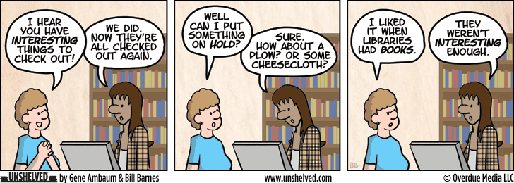 Unshelved comic strip for 7/4/2013