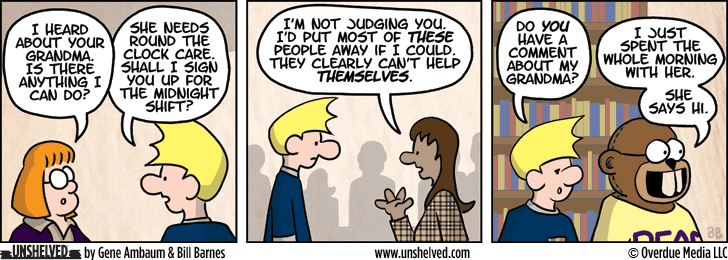 Unshelved comic strip for 7/9/2013