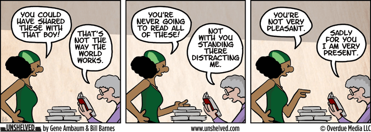 Unshelved comic strip for 7/23/2013