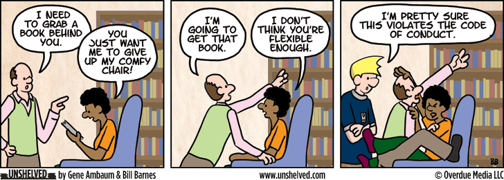 Unshelved comic strip for 8/7/2013
