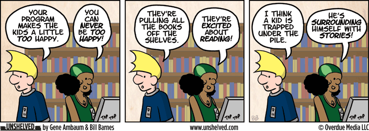 Unshelved comic strip for 8/14/2013