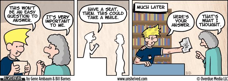 Unshelved comic strip for 8/26/2013