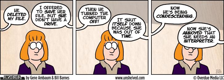 Unshelved comic strip for 9/4/2013