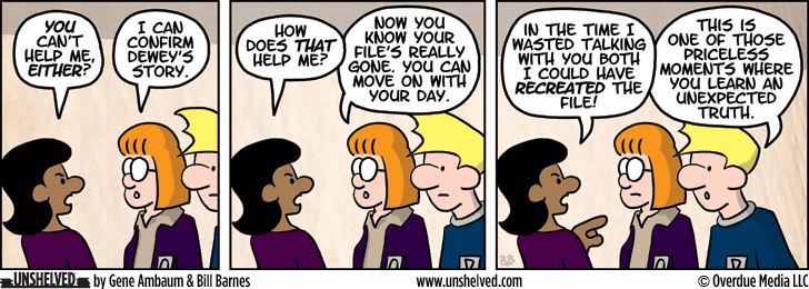 Unshelved comic strip for 9/5/2013