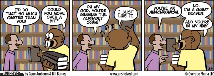Unshelved comic strip for 9/9/2013