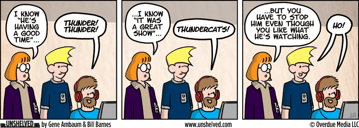 Unshelved comic strip for 10/7/2013