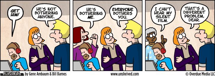 Unshelved comic strip for 10/8/2013