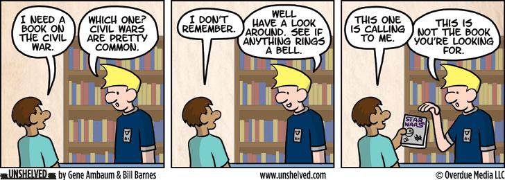 Unshelved comic strip for 10/14/2013