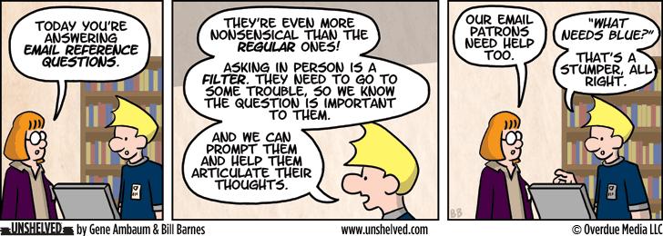 Unshelved comic strip for 10/21/2013