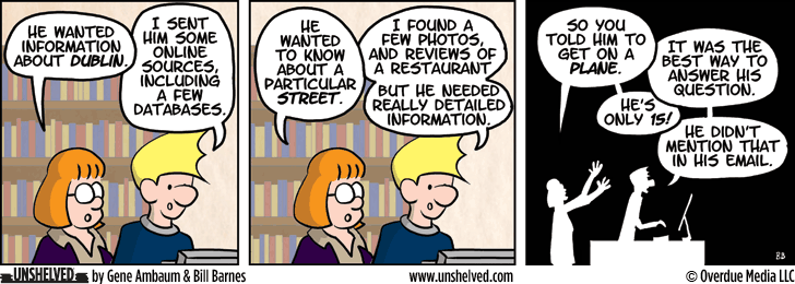 Unshelved comic strip for 10/23/2013