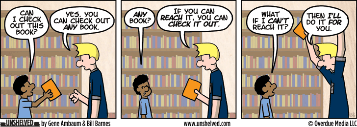 Unshelved comic strip for 10/28/2013