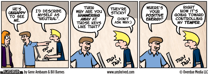 Unshelved comic strip for 11/18/2013