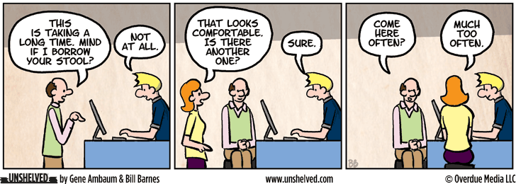Unshelved comic strip for 12/2/2013
