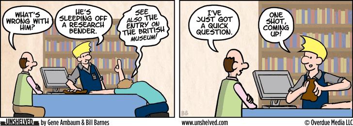 Unshelved comic strip for 12/3/2013