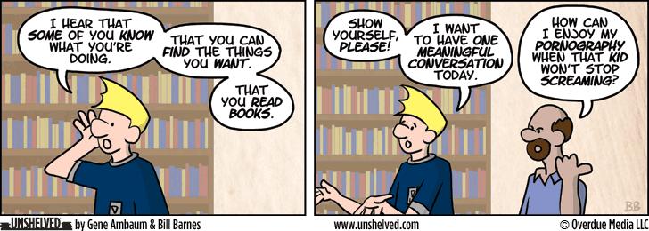 Unshelved comic strip for 12/10/2013