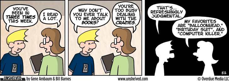 Unshelved comic strip for 12/11/2013