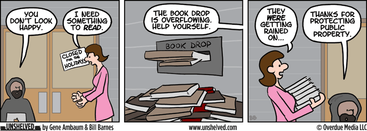 Unshelved comic strip for 12/24/2013