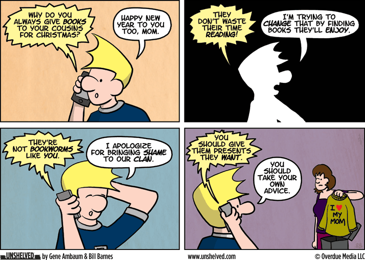 Unshelved comic strip for 1/15/2014