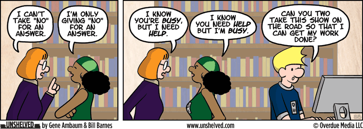 Unshelved strip for 1/29/2014
