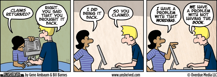 Unshelved comic strip for 3/10/2014