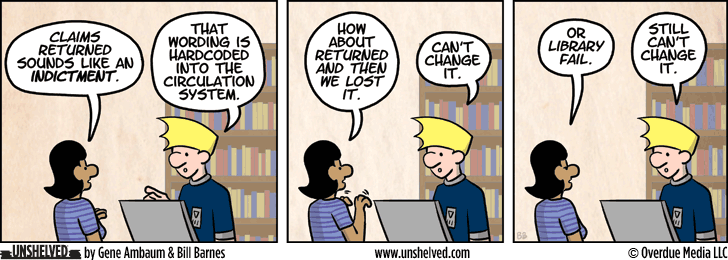 Unshelved comic strip for 3/11/2014