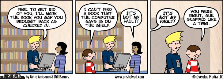 Unshelved comic strip for 3/13/2014
